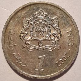 Morocco 1 Dirham 2002 (1423) Y#117 VF