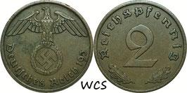 Germany - Third Reich 2 Reichspfennig 1936-1940 KM#90