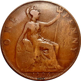 Great Britain 1 Penny 1902-1910 KM#794.2
