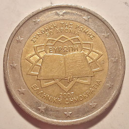 Greece 2 Euros 2007 - 50th Anniversary - Treaty of Rome KM#216 VF+