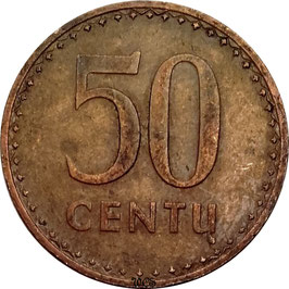 Lithuania 50 Centas 1991 KM#90 VF