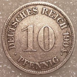 German Empire 10 Pfennig 1900-1909 KM#12 (2)