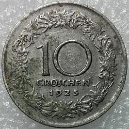 Austria 10 Groschen 1925-1929 KM#2838