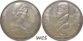 Cook Islands 1 Dollar 1973 KM#7 UNC