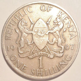 Kenya 1 Shilling 1966-1968 KM#5