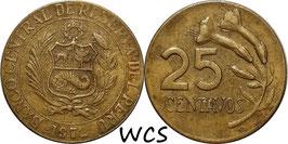 Peru 25 Centavos 1966-1973