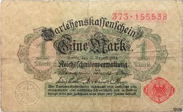Germany 1 Mark 12.08.1914 (1917) Ro 51c VG