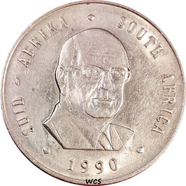 South Africa 1 Rand 1990 The end of Pieter Willem Botha's presidency, SUID-AFRIKA - SOUTH AFRICA KM#141 XF-