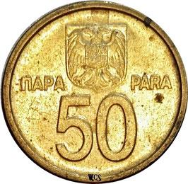 Yugoslavia 50 Para 2000 KM#179 VF