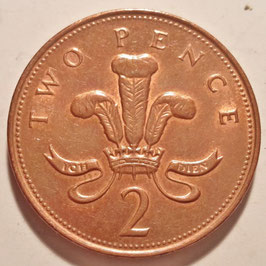 Great Britain 2 Pence 1998-2008 KM#987