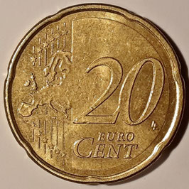 Spain 20 Cents 2007-2009 KM#1071