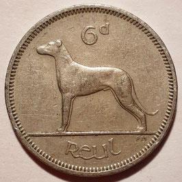 Ireland 6 Pence 1942-1969 KM#13a