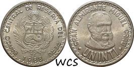 Peru 1 Inti 1985-1988 KM#296