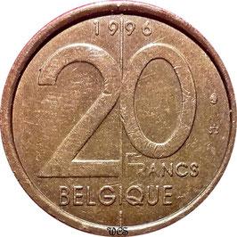 Belgium 20 Francs 1994-2001 BELGIQUE KM#191