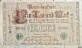 Germany 1000 Mark 21.04.1910 (05-09.1921) Ro 46b Underprint/Series H/E