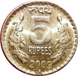 India 5 Rupees 2009-2010 KM#373