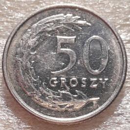 Poland 50 Groszy 1990-2016 Y#281