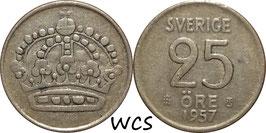 Sweden 25 Öre 1957 TS KM#824 VF (2)