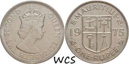 Mauritius 1 Rupee 1975 KM#35.1 XF