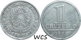 Brazil 1 Cruzeiro 1957-1961 KM#570