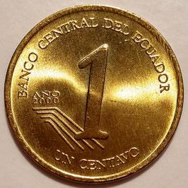 Ecuador 1 Centavo 2000 KM#104