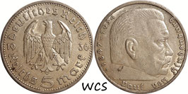 Germany - Third Reich 5 Reichsmark 1936 A KM#86 VF (2)