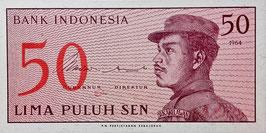 Indonesia 50 Sen 1964 P.94a UNC
