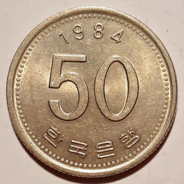 South Korea 50 Won 1983-2015 KM#34