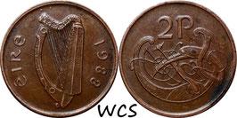 Ireland 2 Pence 1988-2000 KM#21a