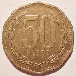 Chile 50 Pesos 1988-2015 KM#219.2