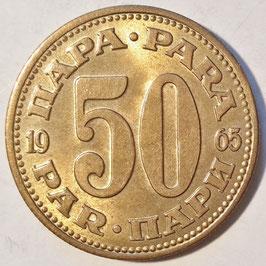Yugoslavia 50 Para 1965-1979 KM#46.1