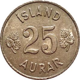 Iceland 25 Aurar 1946-1967 KM#11