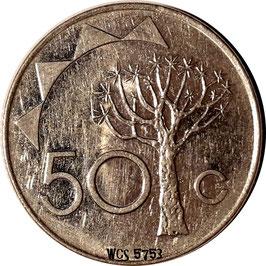 Namibia 50 Cents 1993-2010 KM#3