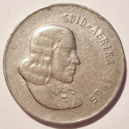 South Africa 20 Cents 1965-1969 SUID-AFRIKA KM#69.2