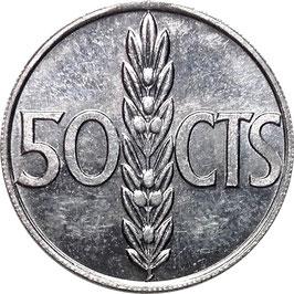 Spain 50 Centimos 1966 KM#795