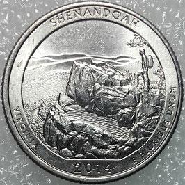 USA 25 Cents (America the Beautiful Quarter) 2014 P - Shenandoah National Park, Virginia KM#567