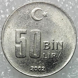Turkey 50.000 Lira 2001-2004 KM#1105