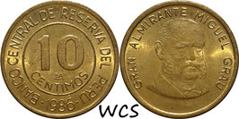 Peru 10 Centimos 1985-1987 KM#293