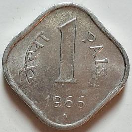 India 1 Paisa 1965-1981 KM#10.1