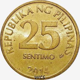 Philippines 25 Sentimos 2004-2017 KM#271a