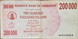 Zimbabwe 200.000 Dollars 01.07.2007 P.49 F-F+