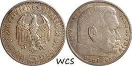 Germany - Third Reich 5 Reichsmark 1935 A KM#86 VF