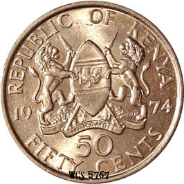 Kenya 50 Cents 1969-1978 KM#13