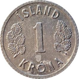 Iceland 1 Krone 1976-1980 KM#23
