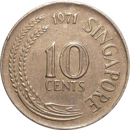 Singapore 10 Cents 1967-1984 KM#3