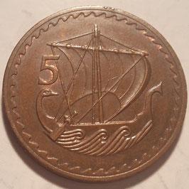 Cyprus 5 Mils 1963-1980 KM#39