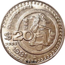 Mexico 20 Pesos 1980-1984 KM#486