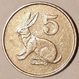 Zimbabwe 5 Cents 1980-1999 KM#2