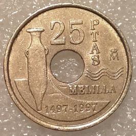 Spain 25 Pesetas 1997 - Melilla KM#983 VF