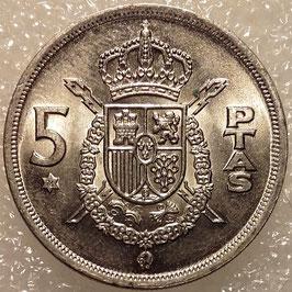 Spain 5 Pesetas 1975 KM#807